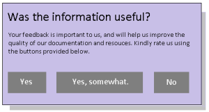 A typical feedback form, which is used to gather visitor's feedback on the information and its effectiveness.