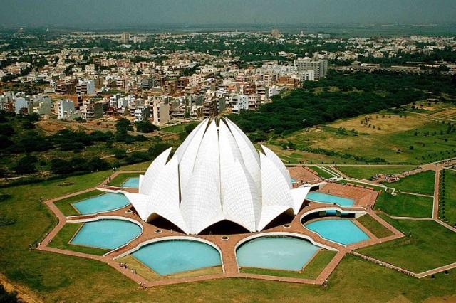 Lotus-Temple-Aerial-View